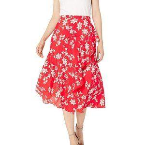 3/$30 Calvin Klein Floral Ruffled Midi Skirt 12